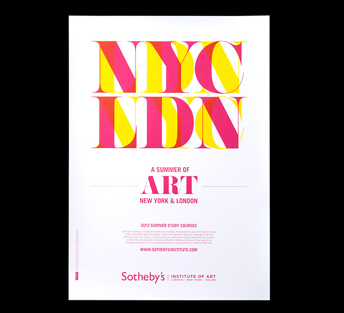 Poster design for Sotheby's Summer campaign